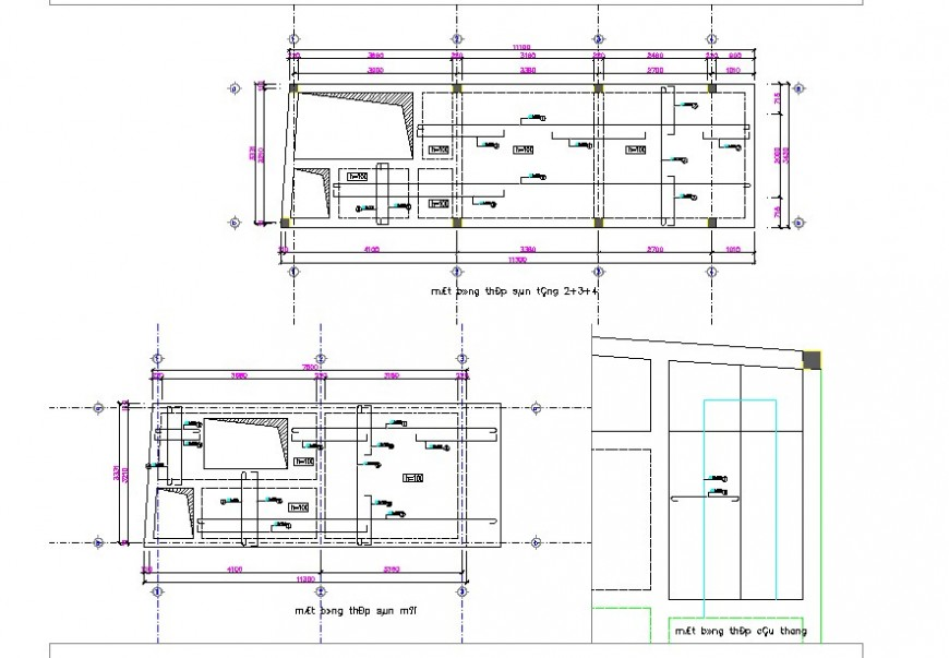 Mini-house line plan detail 2d view CAD structural block layout autocad file