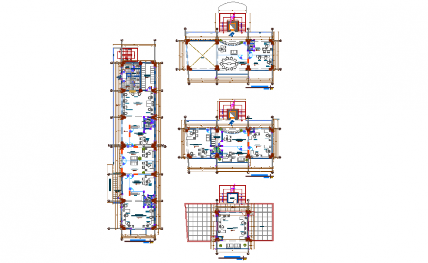 Mini Hospital Dimension Lay-out Plan Detail