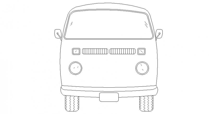 Mini school Bus detail model file