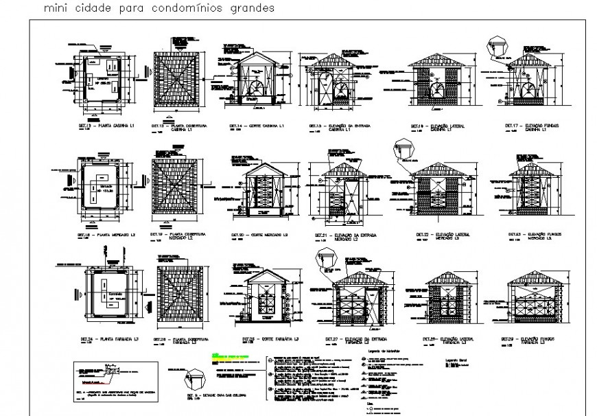 Mini town for large condominiums house drawing in dwg AutoCAD file.