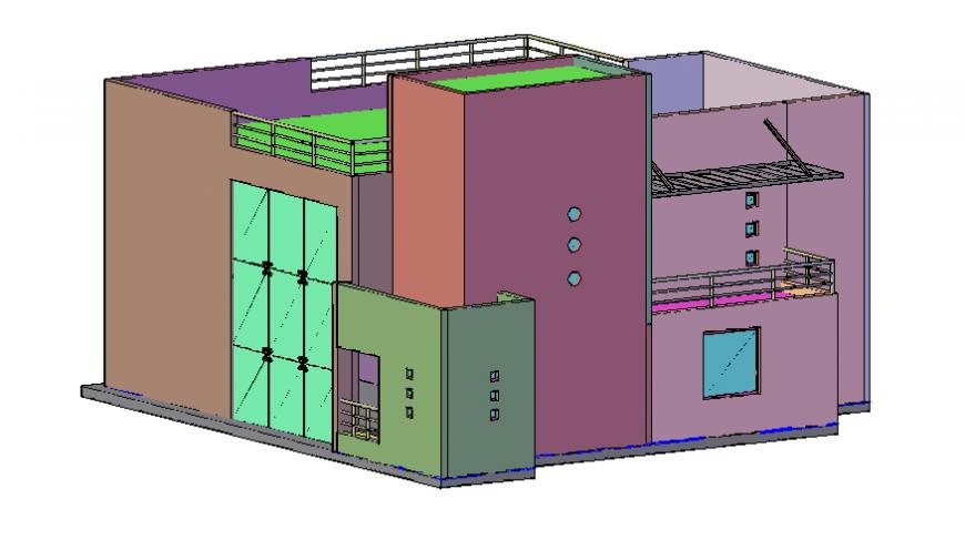 Minimalist house 3d design details includes renders dwg file
