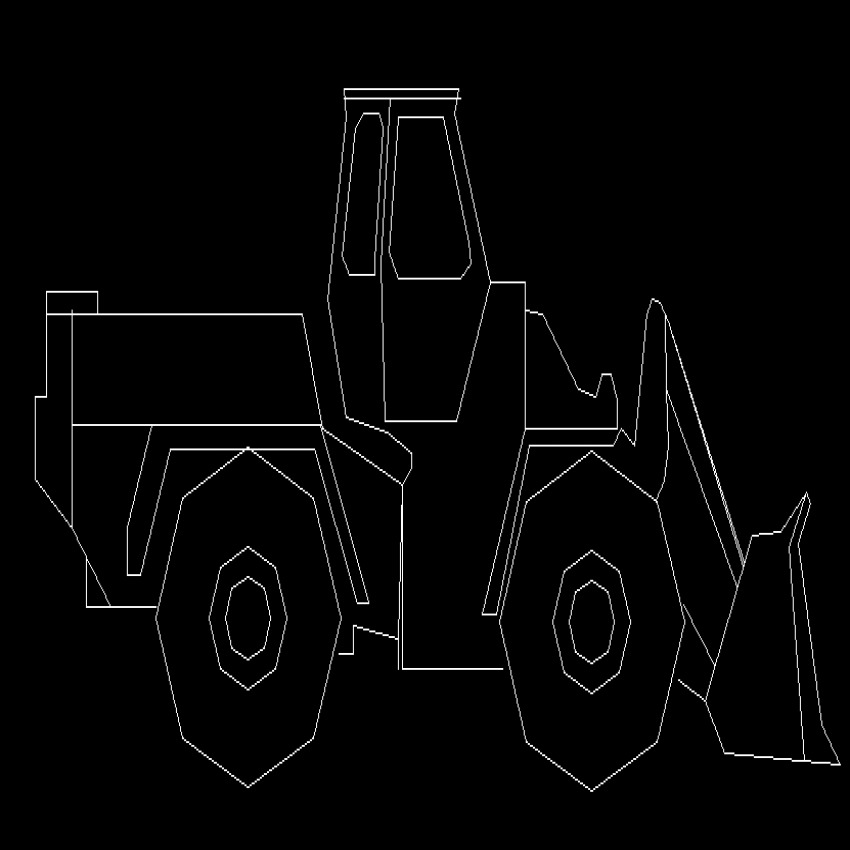 Mining truck side view cad block design dwg file
