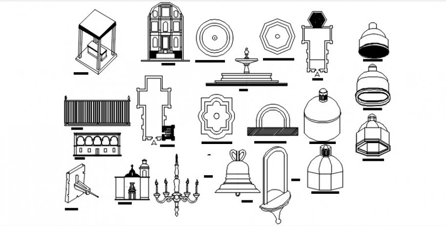 Miscellaneous classic and heritage interior blocks drawing details dwg file