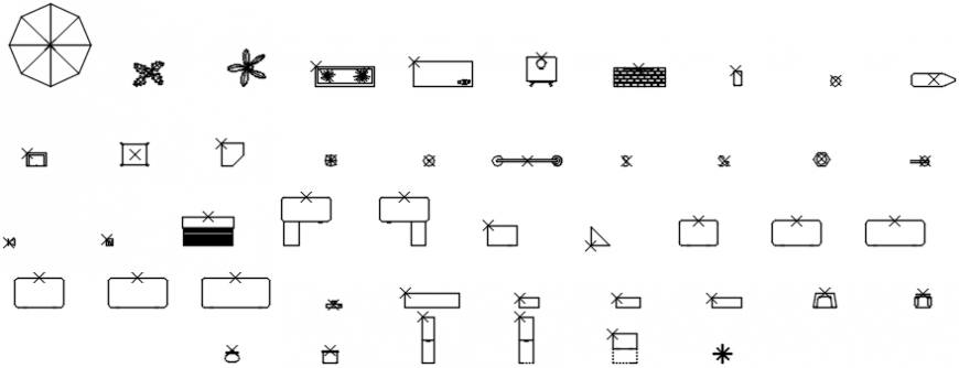 Miscellaneous common furniture blocks cad drawing details dwg file