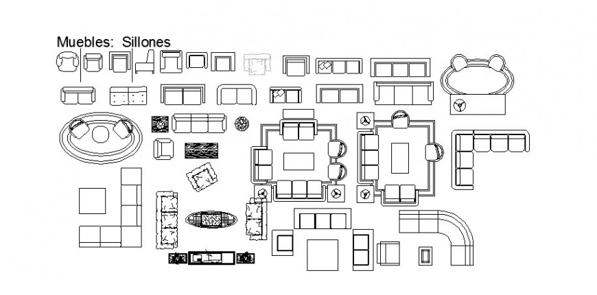 Miscellaneous furniture elevation blocks cad drawing details dwg file