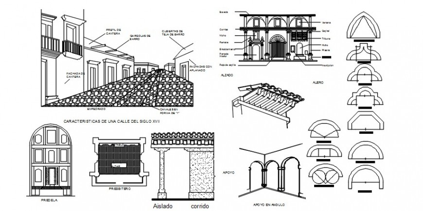 Miscellaneous heritage interior symbol blocks cad drawing details dwg file
