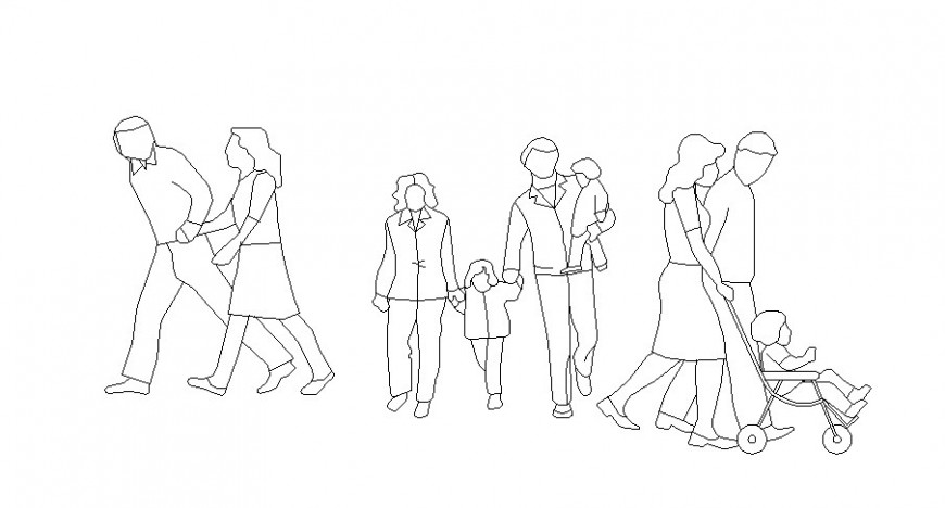Miscellaneous people act figure blocks cad drawing details dwg file