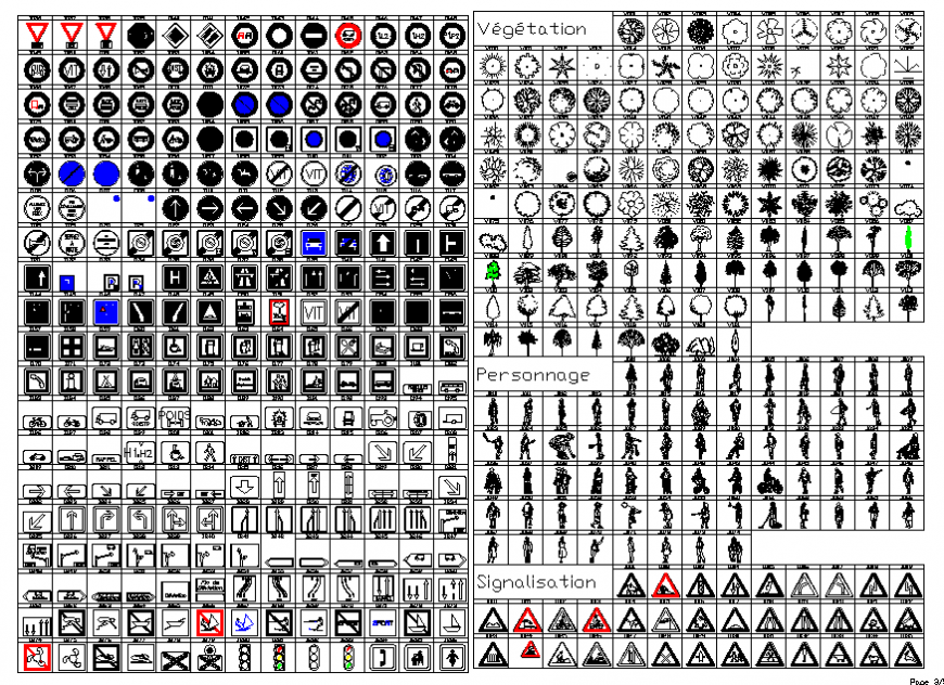 Miscellaneous sign, symbols and direction symbols blocks cad drawing details dwg file