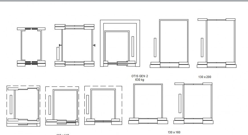 Miscellaneous wooden table elevation blocks cad drawing details dwg file