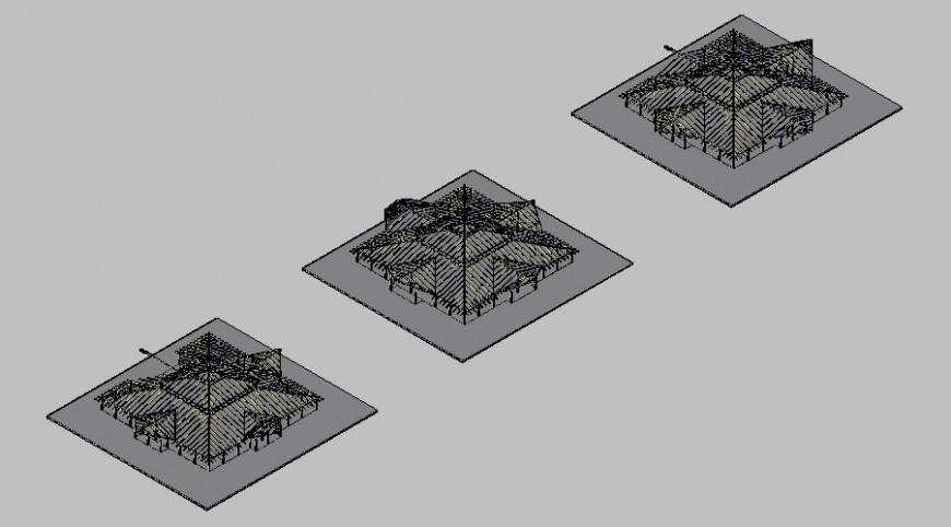 Modeling wooden structures of a sum house type 3d drawing details dwg file