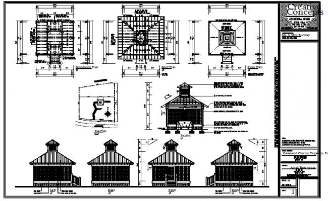 modern Round gazebo structure designs