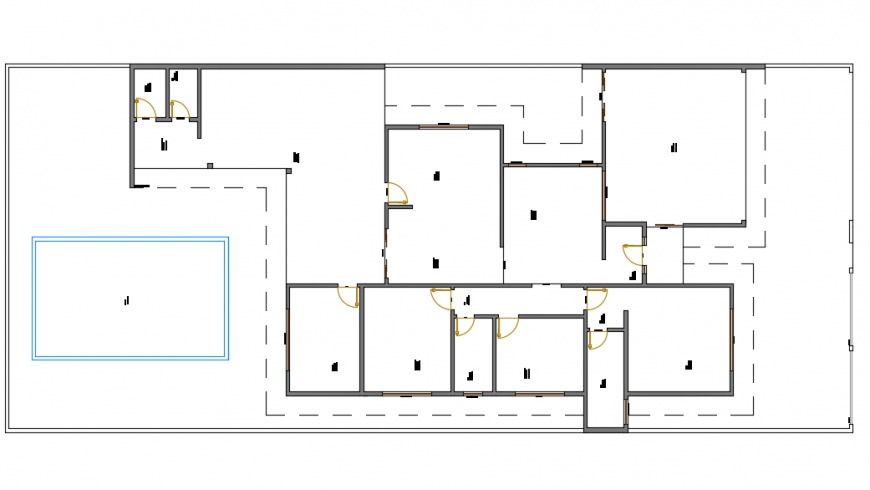 Modern Bungalows Lay-out planing design in Autocad file