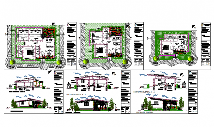 Modern Bungalows Plan & Elevation design