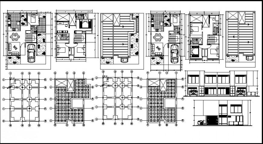 Modern house top view detail files