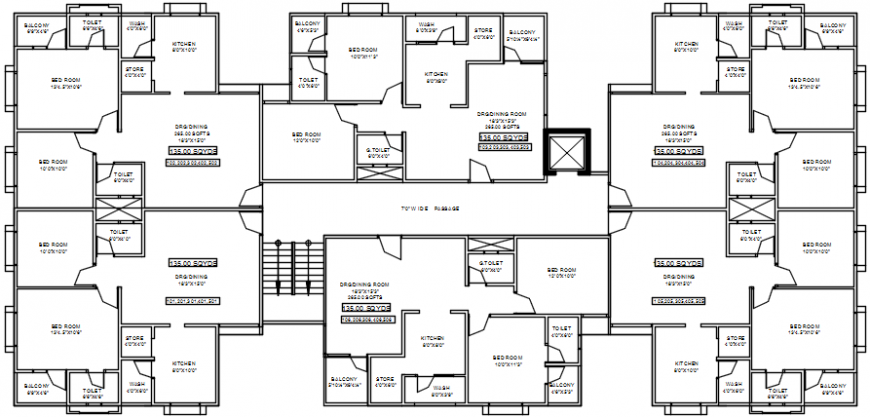 Modern house top view detailing file
