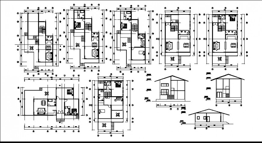 Modern house top view layout file