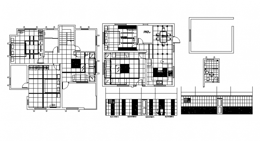 Modern house top view plan file details