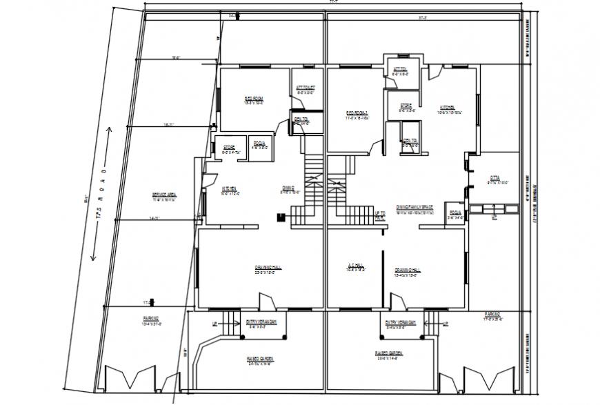 Modern house top view plan files