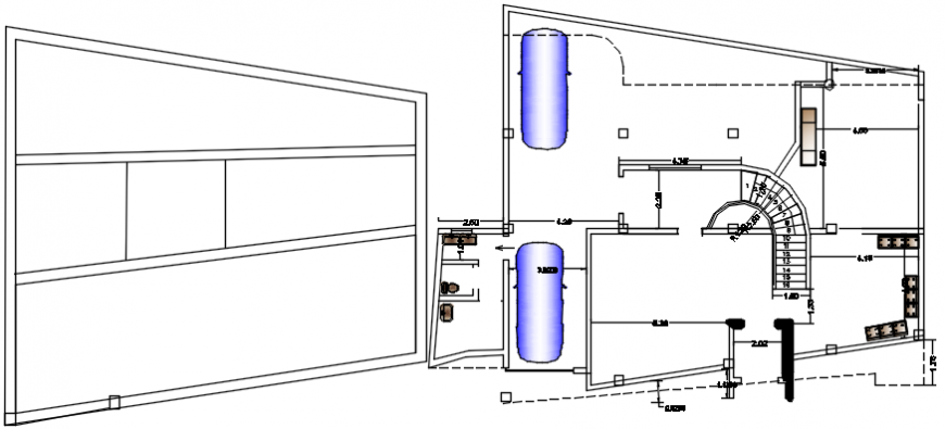 Modern layout plan and structure cad drawing details dwg file