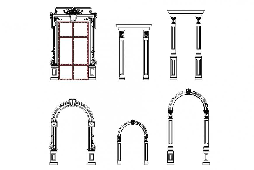Modern Main Gate Design Elevation Block