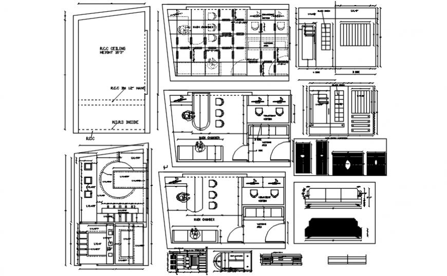 Modern office furniture detailing concept file