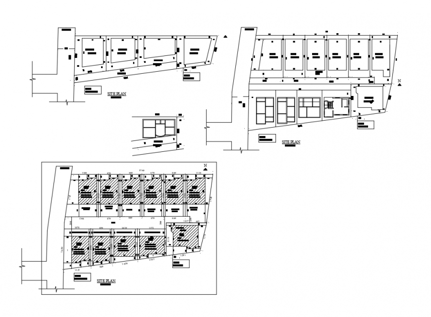 Multi-familiar housing apartment building floor layout plan cad drawing details dwg file