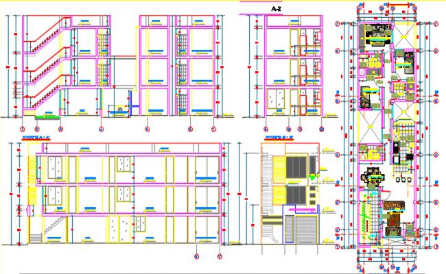 multi family housing dwg file