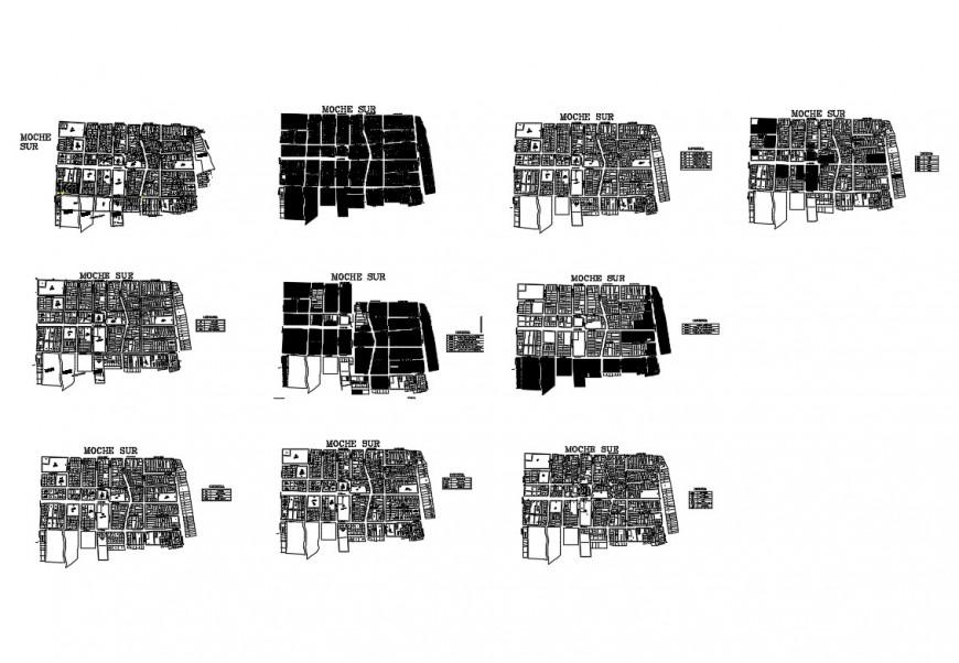 Multi-flooring hospital floor plan cad drawing details dwg file