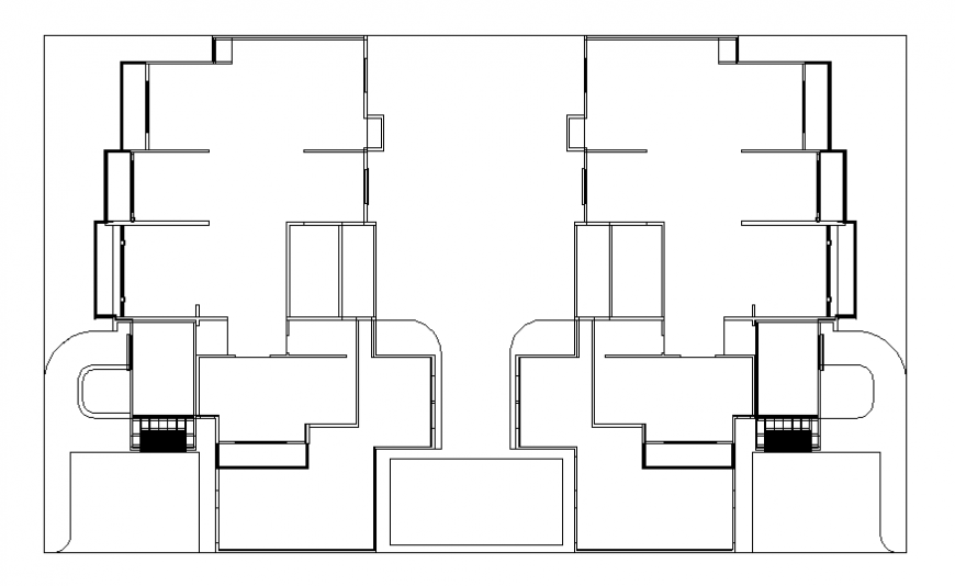 Multi-level apartment cad drawing details dwg file