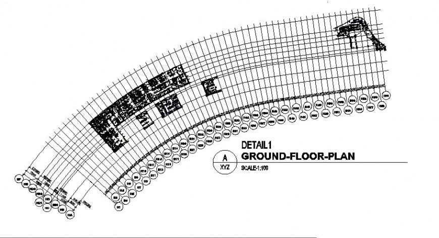 Multi-story luxuries hotel ground floor plan cad drawing details dwg file