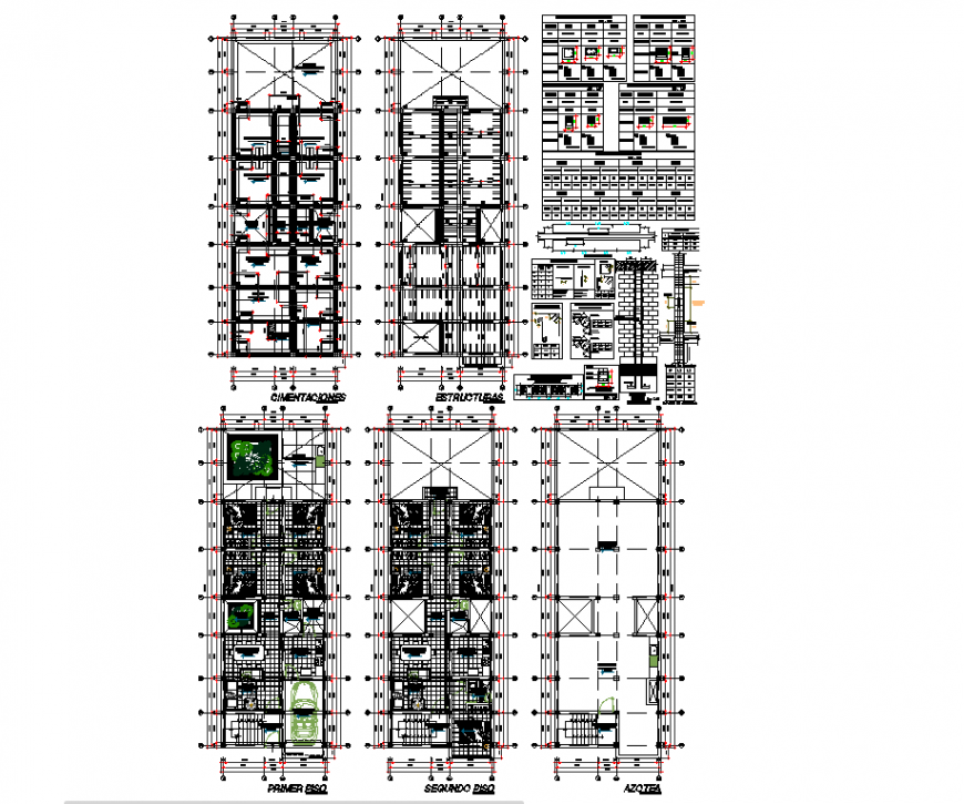 Multi family housing remodeling planning autocad file