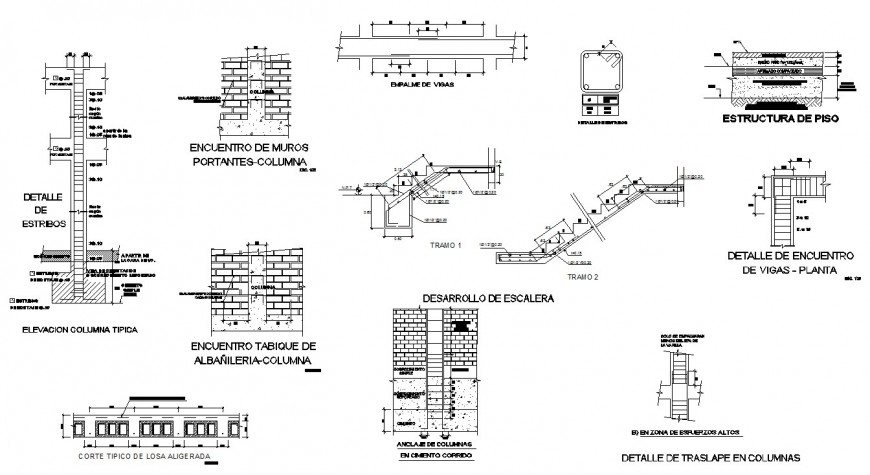 Multifamiliar two-story house 2d block DWG file