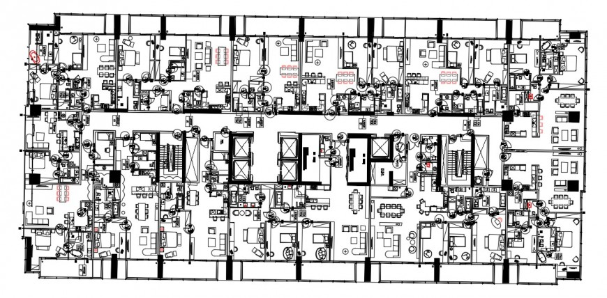 Multifamily apartment layout plan autocad file