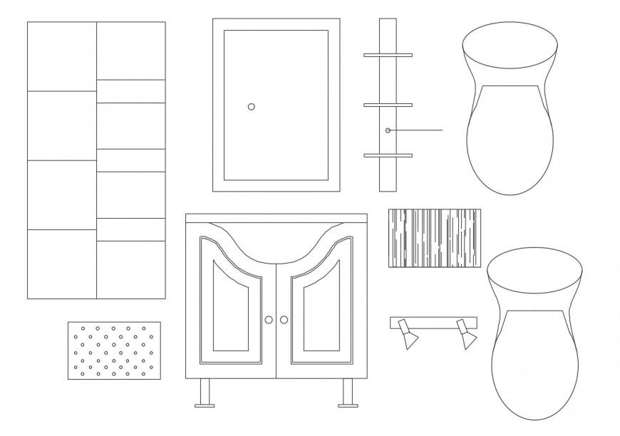 Multiple common furniture elevation blocks drawing details dwg file
