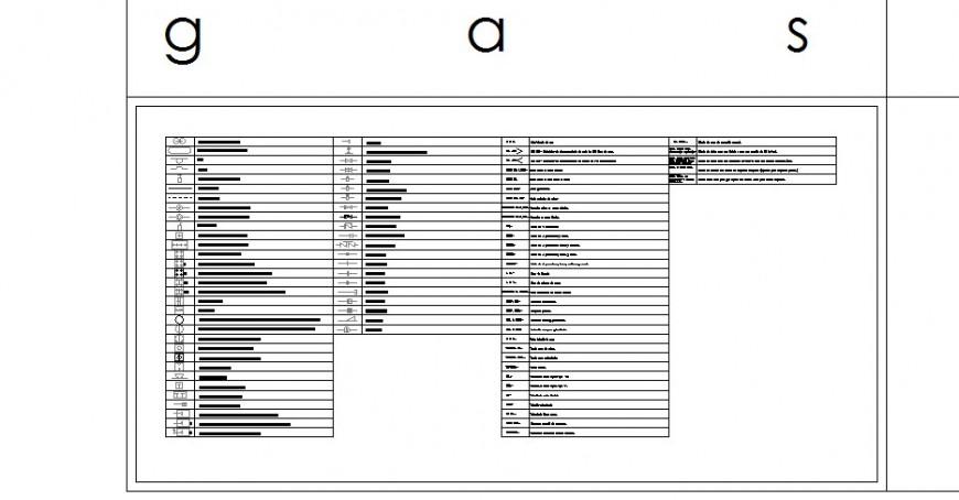 Multiple gas symbol blocks cad drawing details dwg file