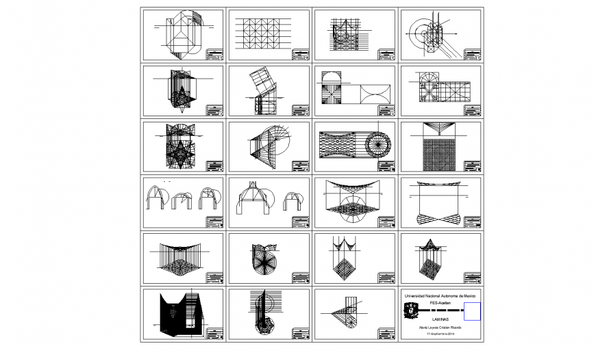 Multiple geometric figures blocks for engineering college cad drawing details dwg file