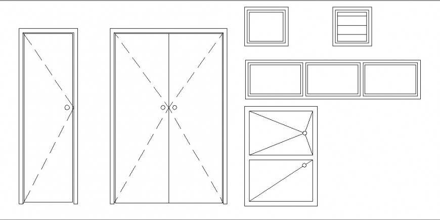 Multiple house doors and windows elevation blocks cad drawing details dwg file