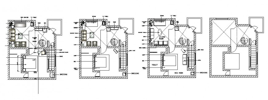 Multiple houses layout plan auto-cad drawing details dwg file