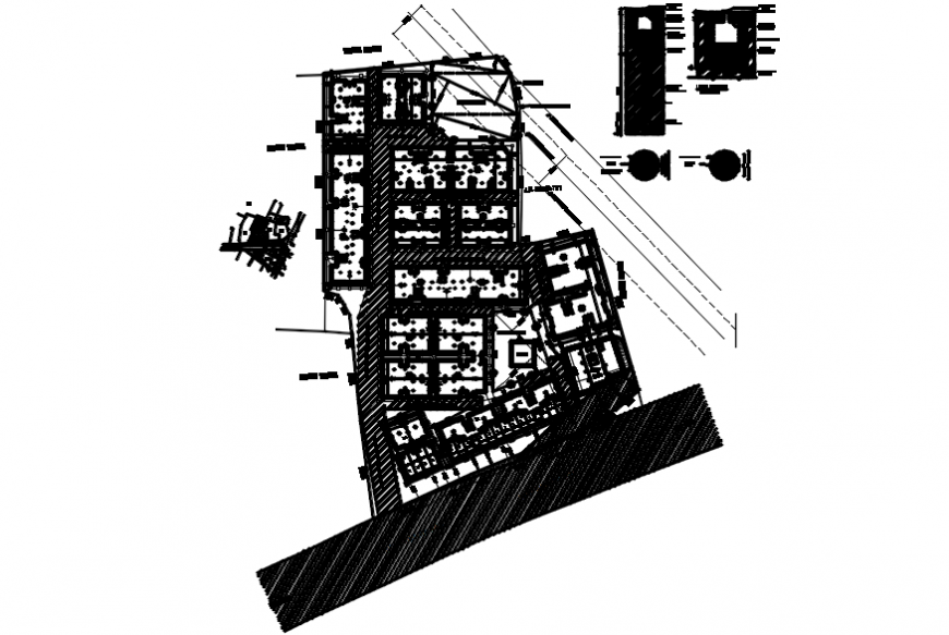 Multiple residential building blocks site layout plan cad drawing details dwg file