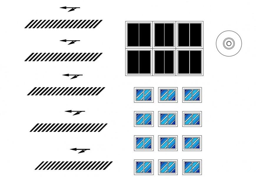 Multiple restaurant windows elevation blocks cad drawing details dwg file