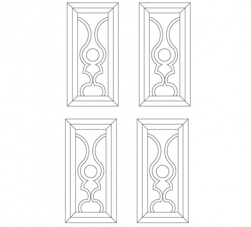 Multiple single window elevation blocks cad drawing details dwg file