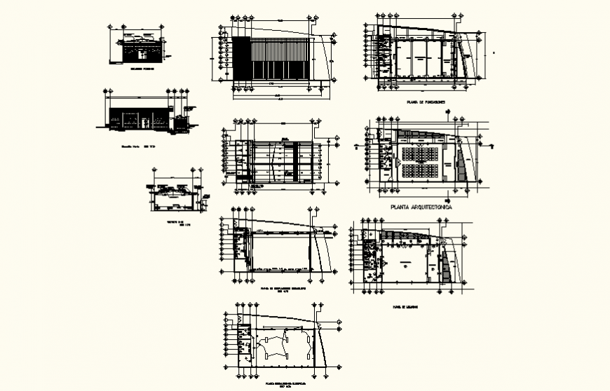Multiplex theater building detail plan and electrical fittings 2d view dwg file