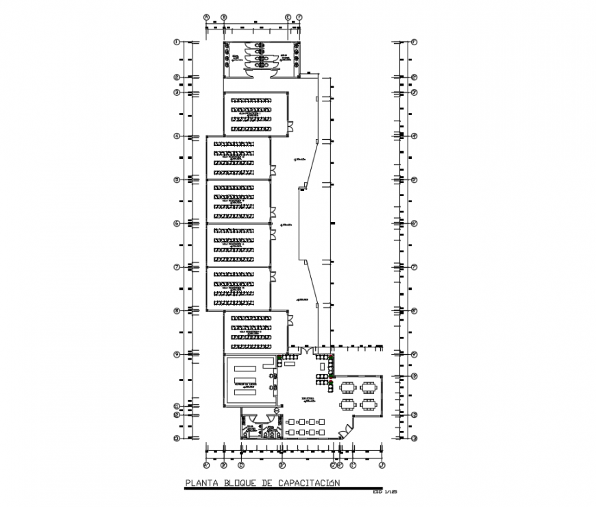 Multiplex theater projects drawing and detail dwg file