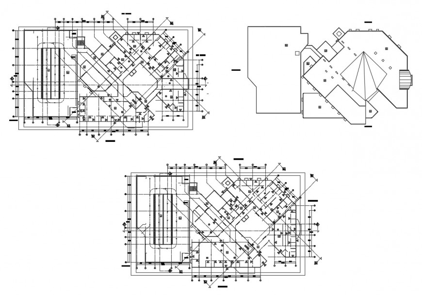 Municipal office floor and framing plan structure cad drawing details dwg file