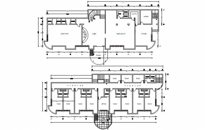 Munnar gate resort floor plan distribution drawing details dwg file