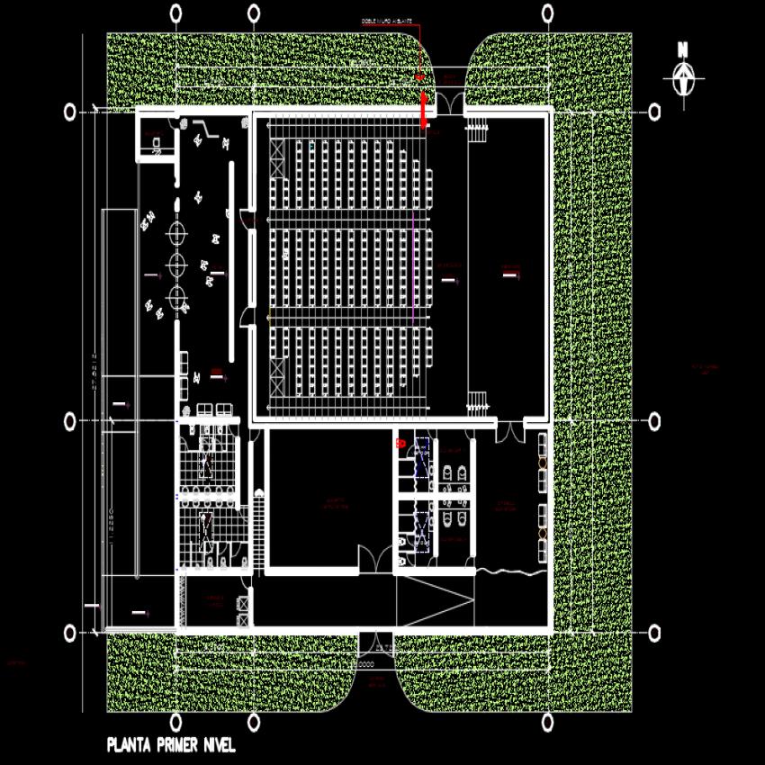 Music room plan dwg file