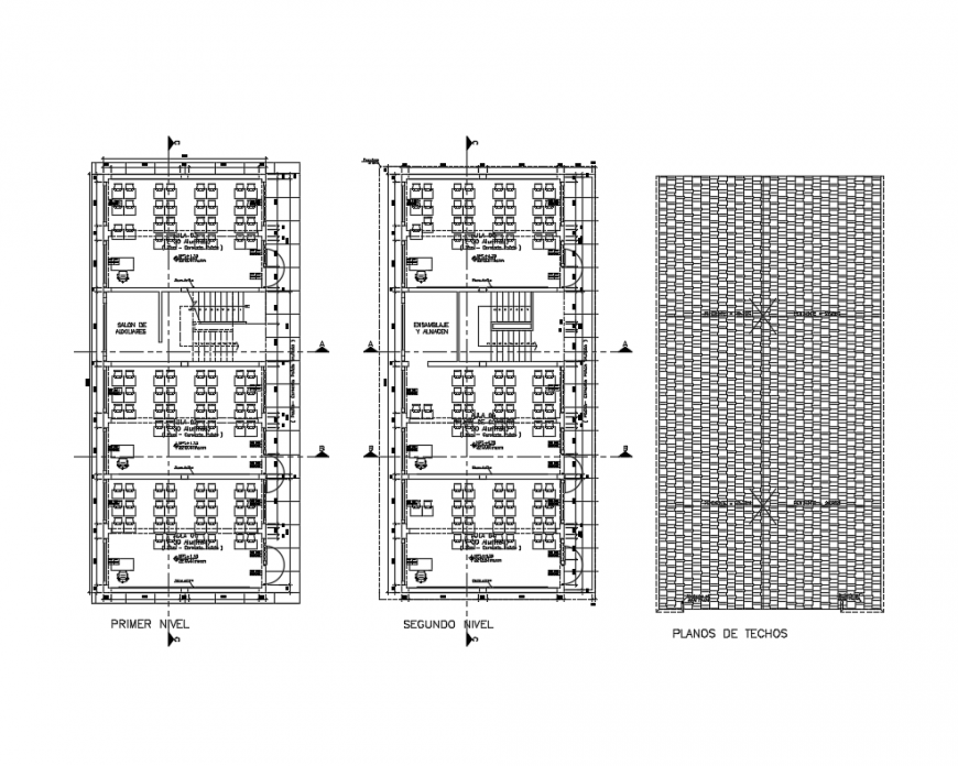 National college first and second floor plan details with foundation plan dwg file