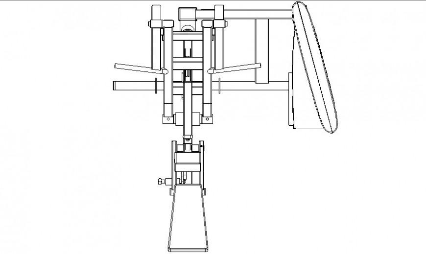 Needle gym equipment plan autocad file