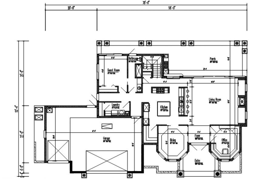 New house floor framing plan and layout plan cad drawing details dwg file