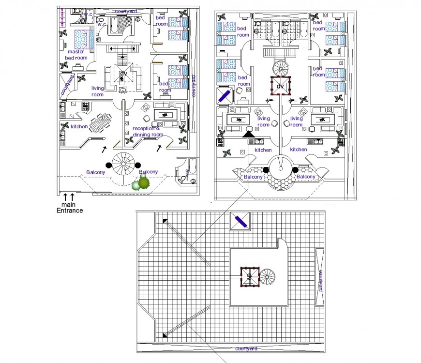 New house plan autocad file